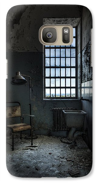 Galaxy Case featuring the photograph The Private Room - Abandoned Asylum by Gary Heller