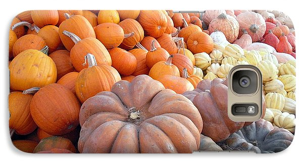 Galaxy Case featuring the photograph The Pumpkin Stand by Richard Reeve