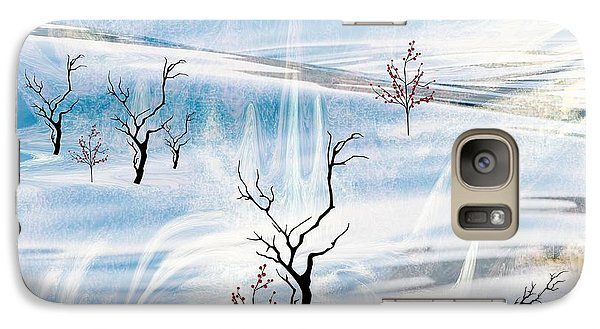 Galaxy Case featuring the painting The Purity Of Snow by Sherri  Of Palm Springs