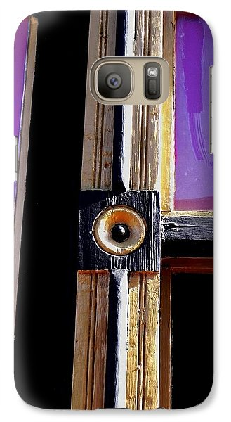 Galaxy Case featuring the photograph The Purple Door by Peggy Stokes