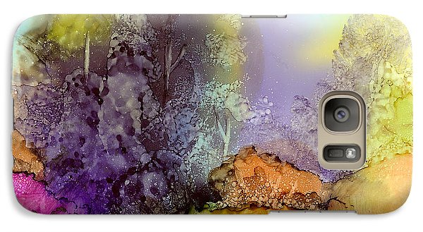 Galaxy Case featuring the painting The Purple Tree by Karen Mattson