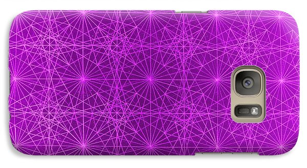 Galaxy Case featuring the drawing The Quantum Realm II by Jason Padgett