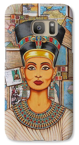 Galaxy Case featuring the painting The Queen Of Amarna by Joseph Sonday