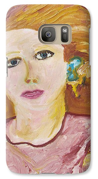 Galaxy Case featuring the painting The Queen by Shea Holliman