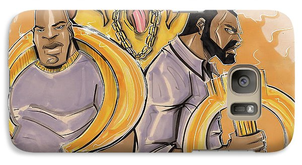 Galaxy Case featuring the painting The Ques by Tu-Kwon Thomas