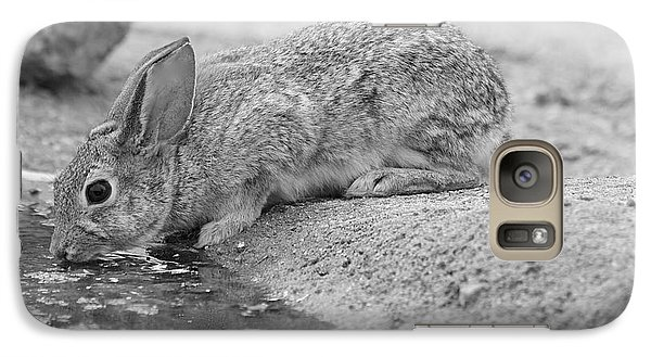 Galaxy Case featuring the photograph The Rabbit And The Water by Ruth Jolly