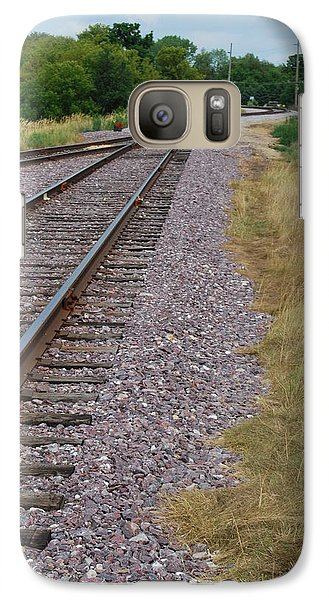 Galaxy Case featuring the photograph The Rails by Ramona Whiteaker