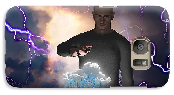 Galaxy Case featuring the digital art The Rainmaker by Bruce Rolff