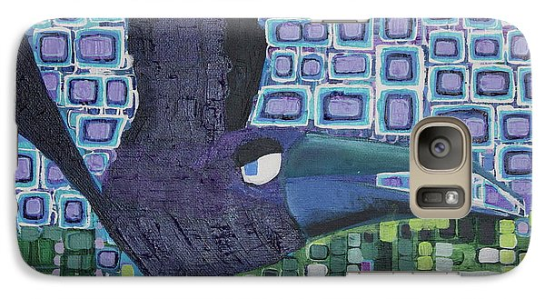 Galaxy Case featuring the painting The Raven by Donna Howard