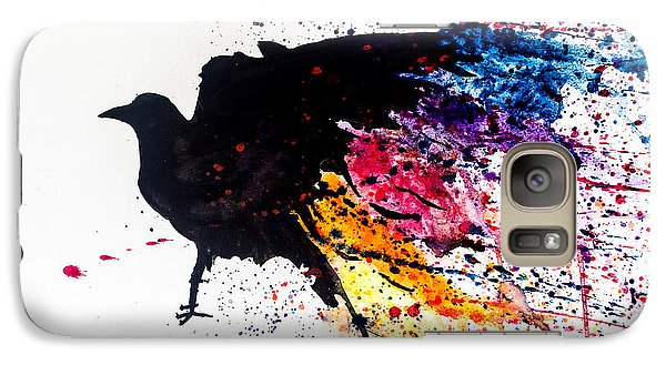 Galaxy Case featuring the painting The Raven by Joshua Minso