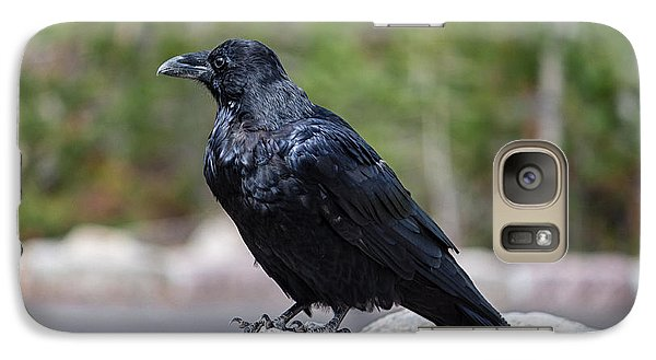 Galaxy Case featuring the photograph The Raven by Lars Lentz