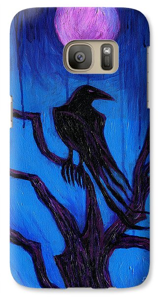 Galaxy Case featuring the painting The Raven Nevermore by Roz Abellera Art