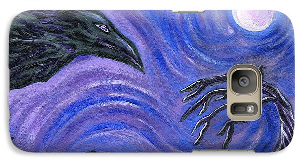 Galaxy Case featuring the painting The Raven by Roz Abellera Art