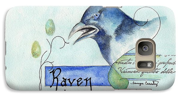 Galaxy Case featuring the painting The Raven by Tamyra Crossley