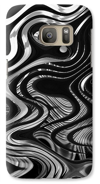 Galaxy Case featuring the photograph The Recipe Is Black And White And Stir Gently by John  Bartosik