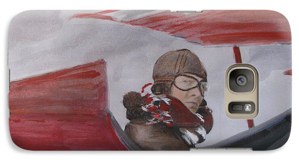 Galaxy Case featuring the painting The Red Baron by Vikram Singh