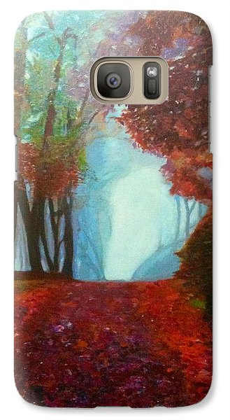 Galaxy Case featuring the painting The Red Cathedral - A Journey Of Peace And Serenity by Belinda Low