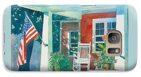 Galaxy Case featuring the painting The Red Cottage by LeAnne Sowa