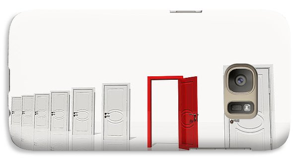 Galaxy Case featuring the digital art The Red Door by Bruce Rolff