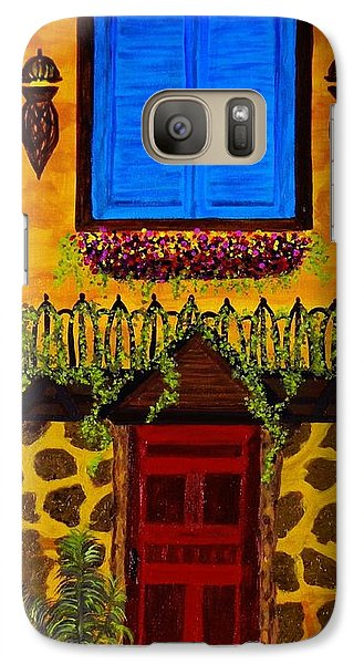 Galaxy Case featuring the painting The Red Door by Celeste Manning