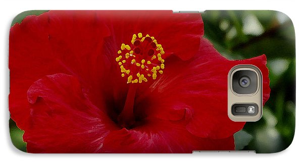 Galaxy Case featuring the photograph  Red Hibiscus by James C Thomas