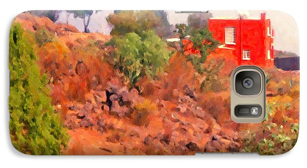 Galaxy Case featuring the digital art The Red House by Spyder Webb