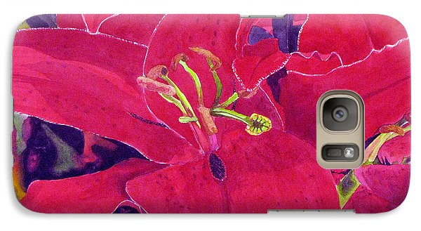 Galaxy Case featuring the painting The Red Knight by Debi Singer