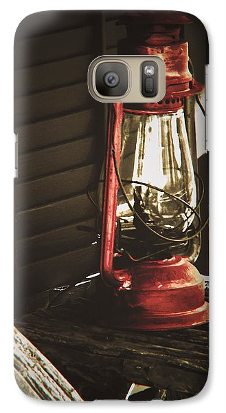 Galaxy Case featuring the photograph The Red Lantern by Debra Crank