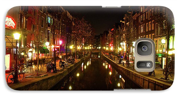 Galaxy Case featuring the photograph The Red Lights Of Amsterdam by Jonah  Anderson