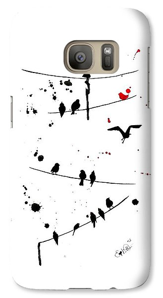 Galaxy Case featuring the painting The Red by Oddball Art Co by Lizzy Love