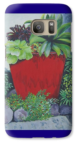 Galaxy Case featuring the painting The Red Pot by Suzanne Theis