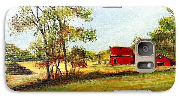 Galaxy Case featuring the painting The Red Roof Farm by Dorothy Maier