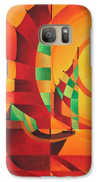 Galaxy Case featuring the painting The Red Sea by Tracey Harrington-Simpson