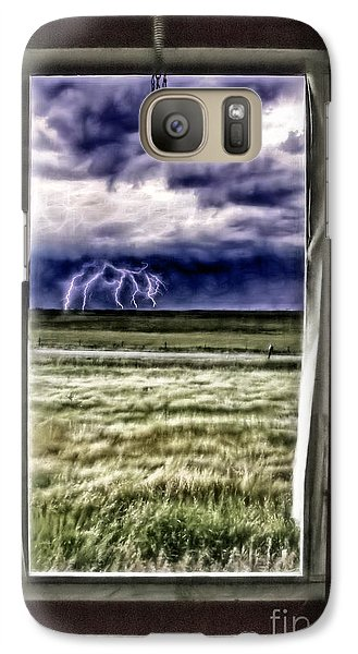 Galaxy Case featuring the photograph The Red Storm Door by Brad Allen Fine Art