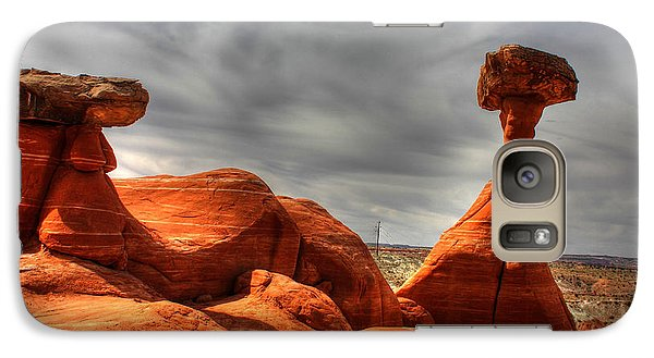 Galaxy Case featuring the photograph The Red Toadstool Hoo-doo by Farol Tomson