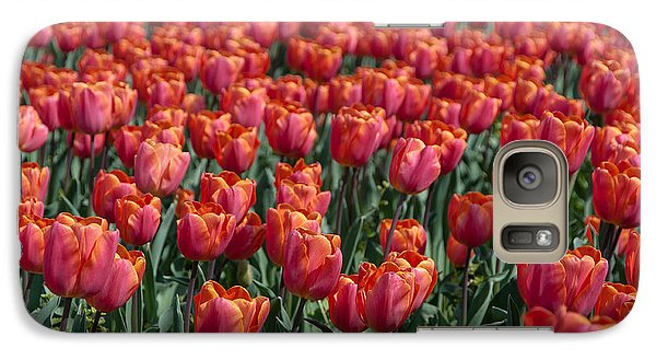 Galaxy Case featuring the photograph The Red Tulips by Sergey Simanovsky