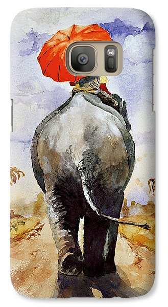 Galaxy Case featuring the painting The Red Umbrella by Steven Ponsford