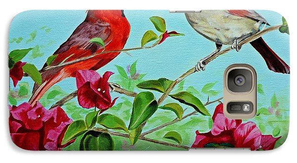 Galaxy Case featuring the painting The Redbirds by Jimmie Bartlett