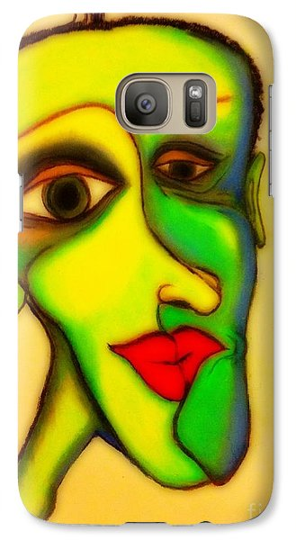 Galaxy Case featuring the painting The Resident by Vickie Scarlett-Fisher