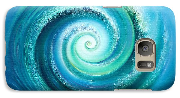 Galaxy Case featuring the painting The Return Wave by Anna Ewa Miarczynska