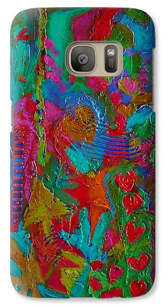 Galaxy Case featuring the mixed media The Rhythm Of Life by Catherine Redmayne
