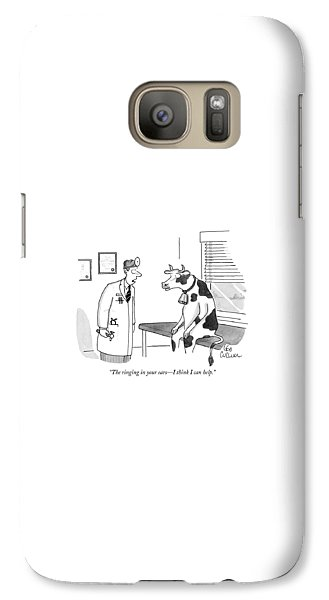 Cow Galaxy S7 Case - The Ringing In Your Ears - I Think I Can Help by Leo Cullum