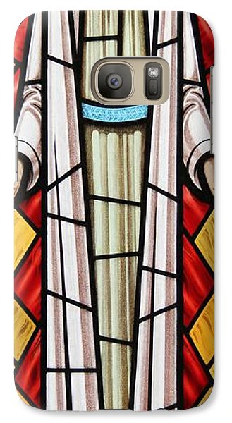 Galaxy Case featuring the glass art The Risen Christ by Gilroy Stained Glass