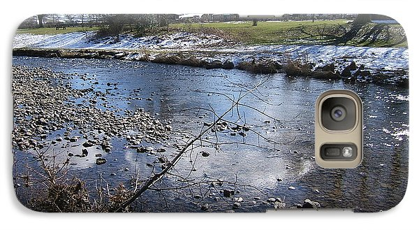 Galaxy Case featuring the photograph The River Aire At Gargrave North Yorkshire by Martin Blakeley
