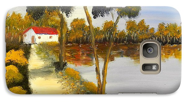 Galaxy Case featuring the painting The Riverhouse by Pamela  Meredith