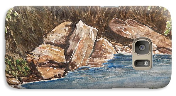 Galaxy Case featuring the painting The River's Edge by Betty-Anne McDonald