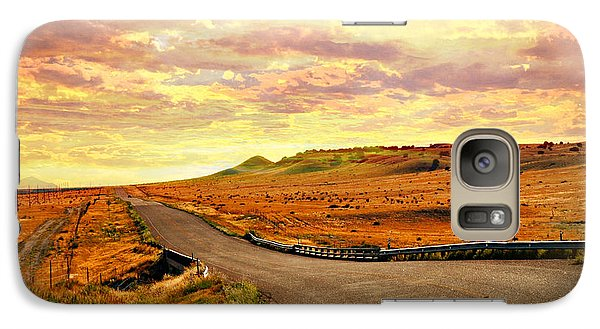Galaxy Case featuring the photograph The Road Less Trraveled Sunset by Marty Koch