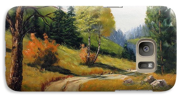 Galaxy Case featuring the painting The Road Not Taken by Lee Piper