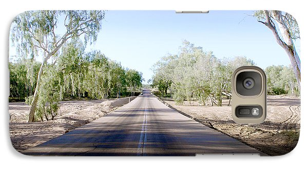 Galaxy Case featuring the photograph The Road To Back Of Beyond by Holly Kempe