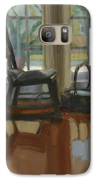 Galaxy Case featuring the painting The Rocker by Nancy  Parsons